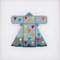 Der feine Faden Stickpackung Violettas buntes Kleid