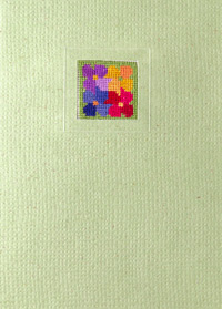 Der feine Faden Grußkarten Blumenpatchwork