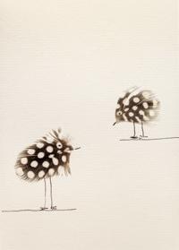Der feine Faden Grußkarte – Federvögel nicht auf Augenhöhe