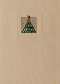 Der feine Faden Grußkarte – Stäbchenbaum