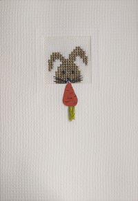 Der feine Faden, Karte Hase mit Möhre